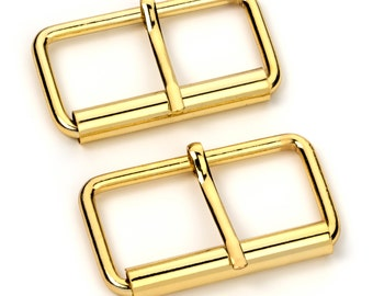"""100pcs - 2"""" Roller Pin Belt Buckles - Gold - Free Shipping (ROLLER BUCKLE RBK-125)"""