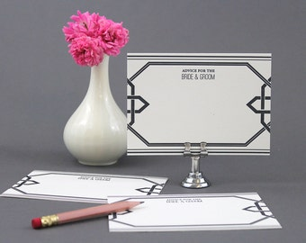 Marriage/Wedding advice cards - Black
