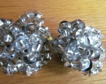 Silver beaded clip
