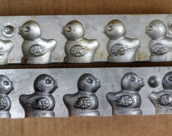 Antique Aluminum Chocolate Mold ~ Confectioners ~ Peeps