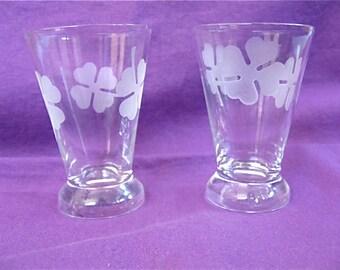 Vintage Shamrock Glasses