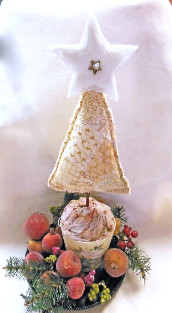 Items similar to quilted christmas tree centerpiece