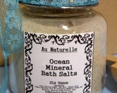 DeTox   -  Ocean Mineral Bath Salts  -   All Natural Mineral Bath  - Kelp - Coral  - All Natural Essential Oils  -  Four Ounce