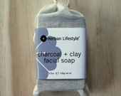 Charcoal + Clay Vegan Facial Soap Made with Cosmetic Clay