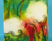 Tiny Cotton 2, Carnival of Cotton series, Original Mixed Media painting