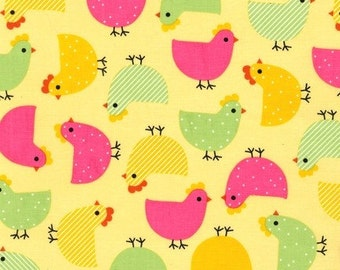 Clearance FABRIC CHICKADEE by Robert Kaufman Urban Zoologie 1/2 yard