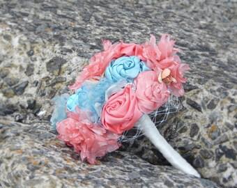 Coral & Seafoam Bouquet