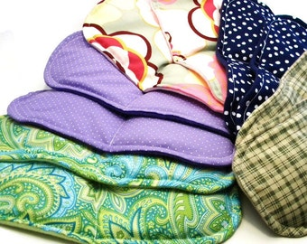 Five Pairs Footwarmers, Microwave Heat Packs for slippers, socks, Bulk Unique gifts for Events, Spa Party Favors, Pamper Party