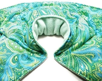 Neck Shoulder Microwave Heat Pack Cold Pack, Unscented or Herbal Aromatherapy, Fibromyalgia, Massage Physical Therapy, Heated Neck Wrap