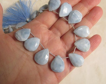 Rare Blue Caribbean Opal Briolette Beads Natural Great For Pairs Only 1 Strand Close in Size Large