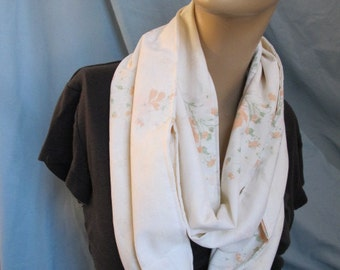 SALE - Floral Vintage Fabric Cowl/Circle Scarf/Infinity Scarf (4442)