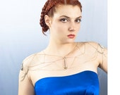 Big Crystal Wedding Jewelry Shoulder Chain Necklace