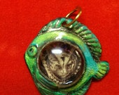 Cat, Fish Pendant