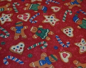 Gingerbread Fabric, Candy Cane Fabric, Cookie Fabric, Christmas Fabric, Holiday Quilting, Stocking Fabric, Novelty Fabric