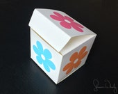 Bright Flowers Printable Gift Box