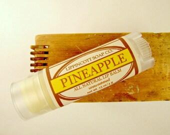 Pineapple Lip Balm - All Natural Lip Balm - Unsweetened Lip Balm - Phthalate Free - Tropical Lip Balm - Beeswax Lip Balm