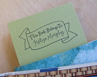 Handwritten Bookplate:  Banner Design