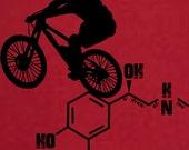 Cotton Mountain bike Mens T-shirt Adrenaline Molecule Bike Silhouette