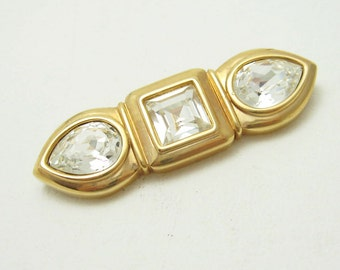 Vintage Swarovski Crystal Brooch SAL Jewelry Bar Brooch  P4873