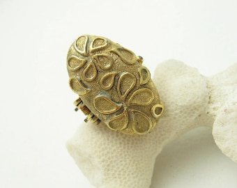 Vintage Perfume Ring Long Large R4816
