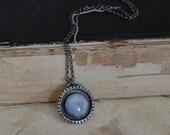 Rainbow Moonstone Amulet Necklace
