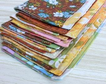 Cloth Napkins Multi Color Flowers Lunchbox Set of 10