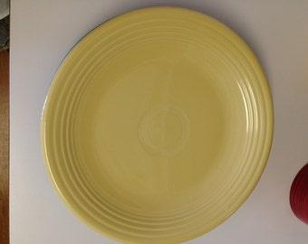 "Fiesta Pale Yellow 12"" Platter Chop Plate Fiestaware"