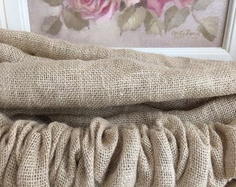 Burlap Country French Paris Natural Sand Velcro End To End - Chandelier Chain Cover - Cord Cover - Wedding Decor - Dressy Burlap