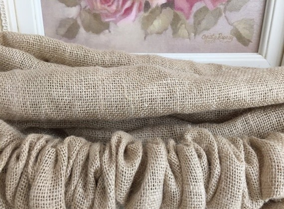 burlap country french paris natural sand chandelier chain. Black Bedroom Furniture Sets. Home Design Ideas
