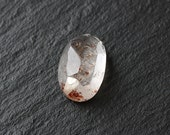 lepidocrocite in quartz, cabochon,