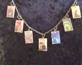 Design Your Own Book Necklace  -  Start with any 3 book titles and add up to 6 more for a total of 9 books per necklace  -  Book Necklace