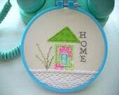 Hoop Art, Embroidery Hoop Art, Fabric Hoop Art, Wall Decor, Wall Hanging,