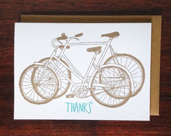Shiny New Bikes Thank You Card (pack of 10)