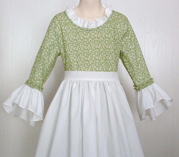 Girls Colonial Pioneer Dress Modest Clothing Colonial Dress