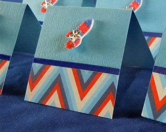 Stripes and Rockets Mini Cards 2x2 (6)
