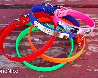 Small Waterproof Collar //  1/2 inch wide //  Waterproof Dog Collar // Waterproof Collar // No Stink Dog Collar // Odor Free Dog Collar