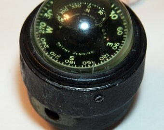 Nautical COMPASS- Airguide Chicago- Vintage Boating Instrument- Water Compass- Industrial Decor- Beach House G-09