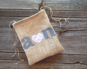 Dollar Dance Bag, Personalized Wedding Bag, Money Bag, Dollar Dance, Drastring Bag, Brides Bag, Woodland Wedding, Pink Wedding, Barn Wedding