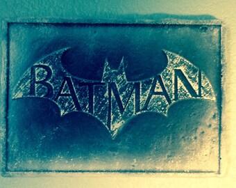 Batman relief wall plaque: Mr. Freeze paint scheme