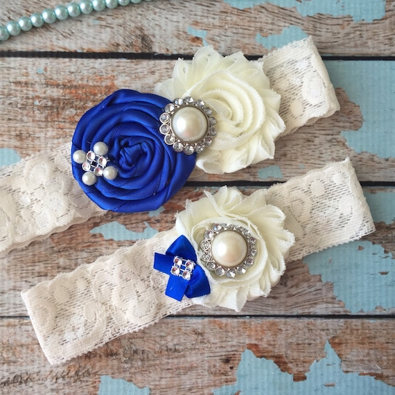 Wedding Garter / Royal Blue /YOU DESIGN / Wedding Garters/