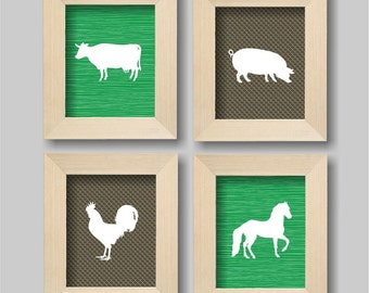 Farm Animals Nursery Wall Art