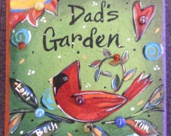 Garden Stone, Cardinal, Dad's Garden