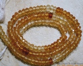 A++ Micro Cut Israel HESSONITE Garnet 4.5-5mm Faceted Rondelle 14 Inch Strand ETSY-A