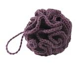 Crocheted Cotton Linen Blend Loofah