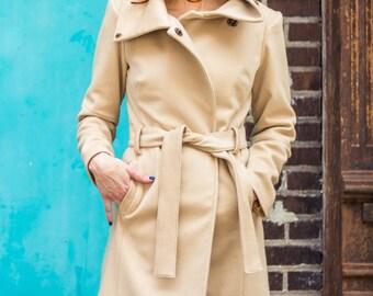 Pure Camel Hair women's winter coat coat • urban modern statement coat