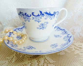 Shelley Blue Teacup,  Heavenly Blue Teacup, Blue Shelley Tea Cup, Collectible Teacup,   no S 54