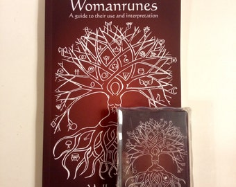 Womanrunes: A guide to their use and interpretation. Book AND card set. (divination, books, oracle cards, red tent, runes, oracle)