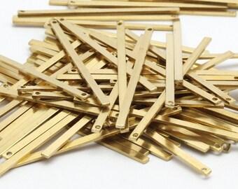 Brass Bar Pendant, 25 Raw Brass Bars (45x2x0.80mm) BS 1196--A0863