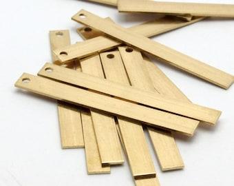 25 Raw Brass Bars (36x4x0.6mm) Bs 1194