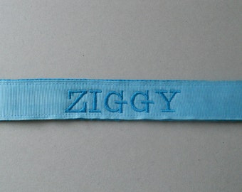 Solid Color Personalized Dog or Puppy Collar - Classic Style/Girl dog/Boy dog/Solid Color Ribbon and Webbing